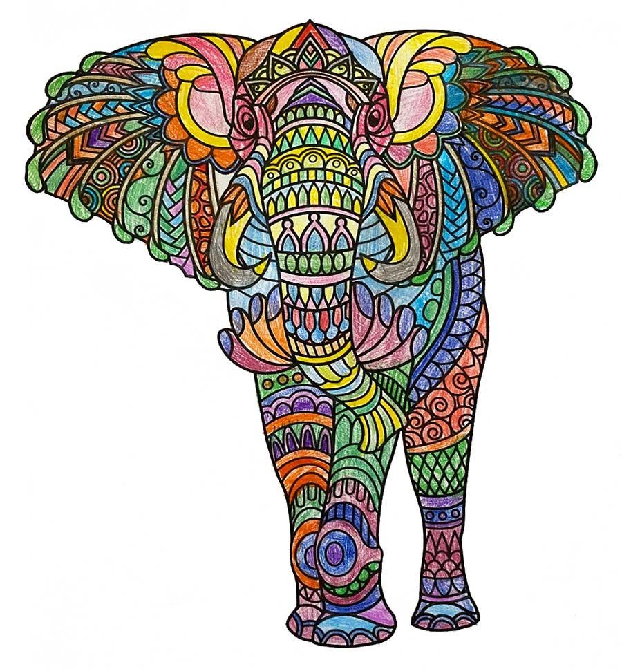 Mandala Elefante pintado