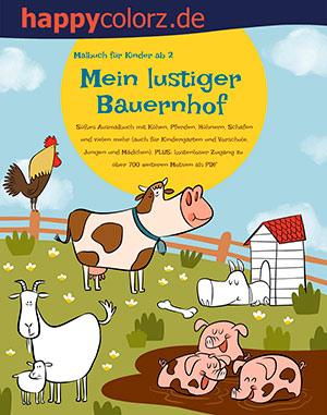 Malbuch: Mein lustiger Bauernhof - Mehr Infos