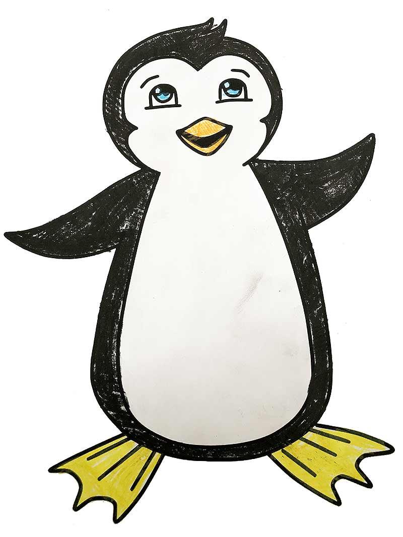 pinguin malvorlage kostenlos » pinguine ausmalbilder