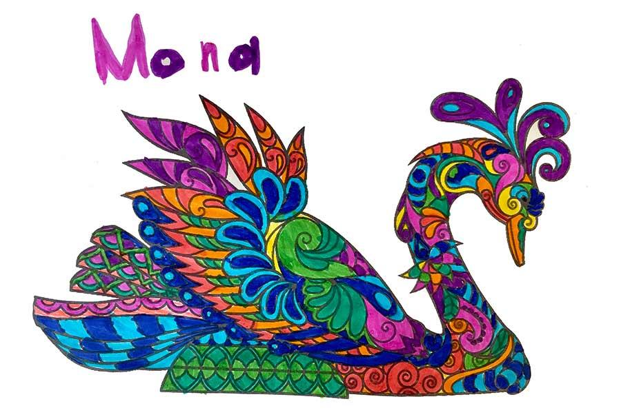 Mandala Cisne pintado