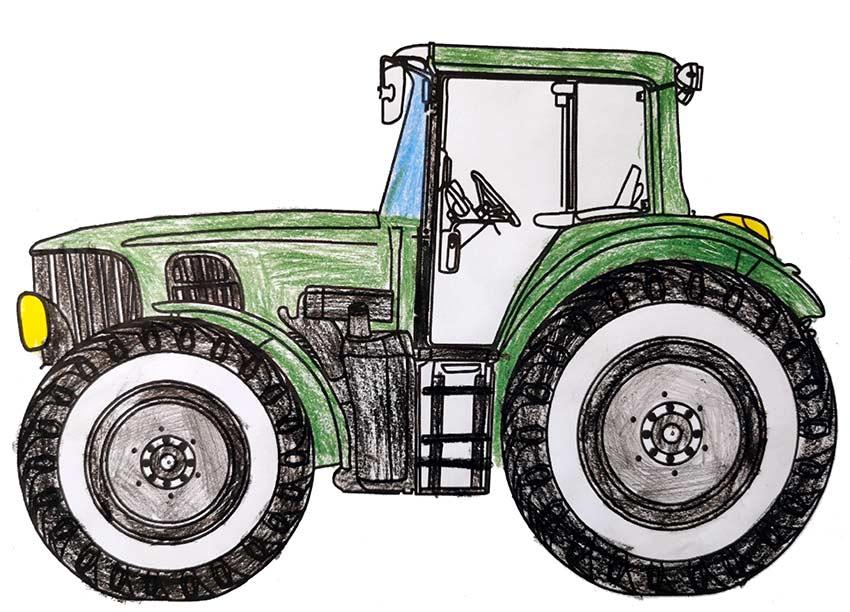 traktor malvorlage kostenlos » traktoren ausmalbilder
