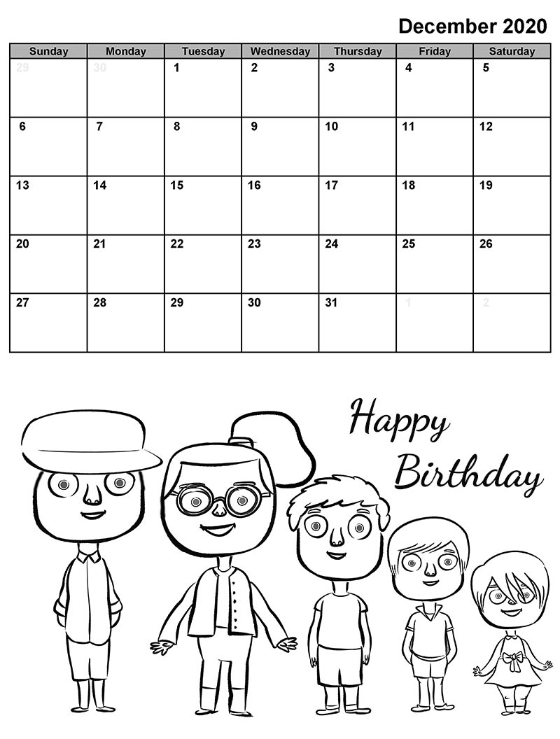 calendar maker birthday