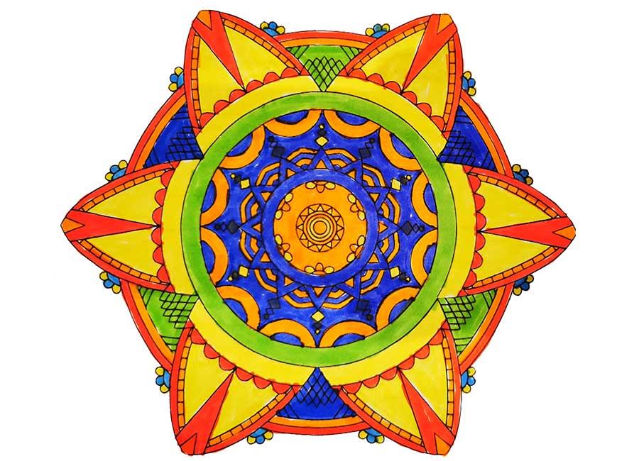 ausgemaltes Mandala
