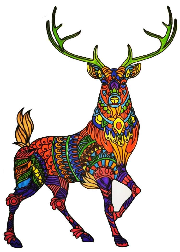 Mandala Hirsch pintado